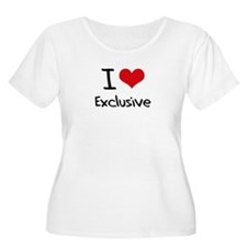 I love Exclusive Plus Size T-Shirt