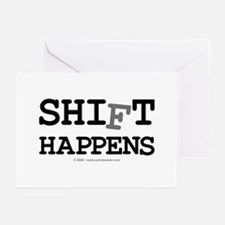 shift happens... Greeting Cards (Pk of 10)