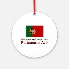 Happy Portuguese Avo (Grandmother) Ornament (Round