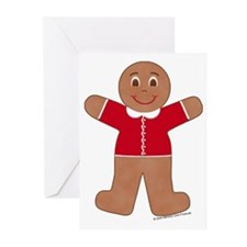 Gingerbread Boy Red Basic Cards (Pk of 10)