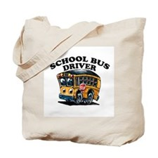 Cute School bus driver Tote Bag