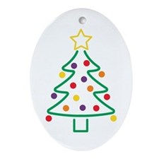 Cookie Cutter Xmas Oval Ornament