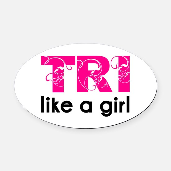 Funny 70.3 ironman Oval Car Magnet
