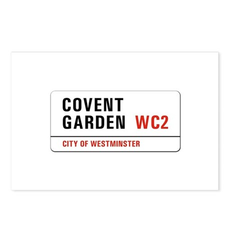 Covent Garden, London - UK Postcards (Package of 8