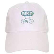Patterned Bicycle Text Oval Baseball Cap