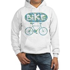Patterned Bicycle Text Oval Hoodie