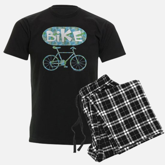 Patterned Bicycle Text Oval Pajamas