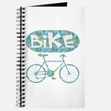 Patterned Bicycle Text Oval Journal