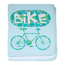 Patterned Bicycle Text Oval baby blanket