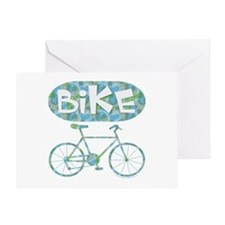 Patterned Bicycle Text Oval Greeting Card