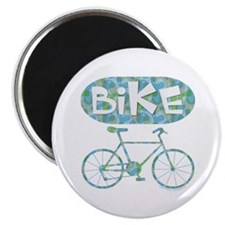 Patterned Bicycle Text Oval Magnet