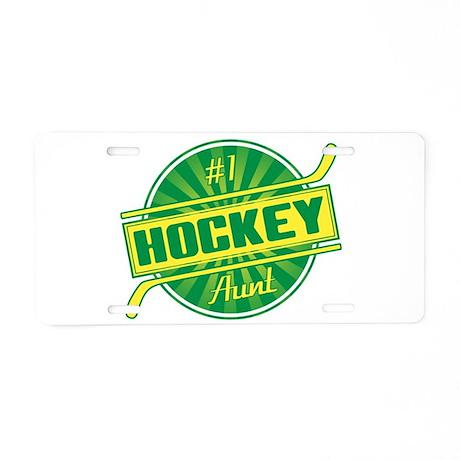 #1 Hockey Aunt Aluminum License Plate