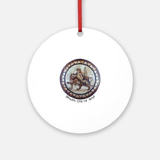 Bacchus God of Wine Round Ornament