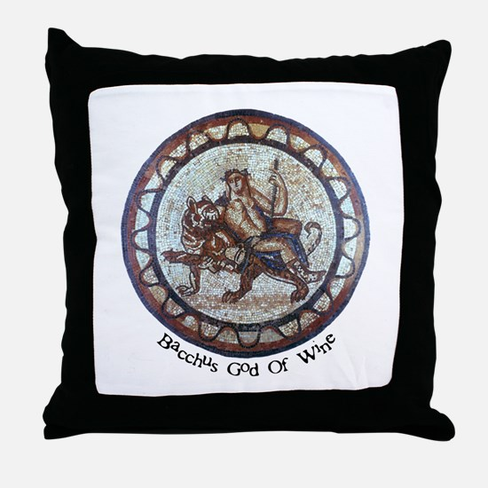 Bacchus God of Wine Throw Pillow