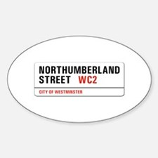 Northumberland St., London - UK Oval Decal