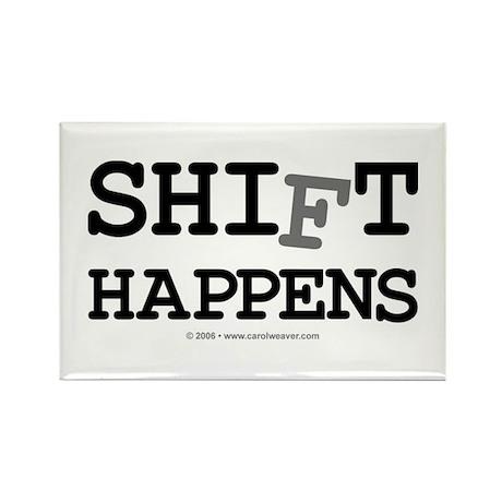 shift happens... Rectangle Magnet (10 pack)