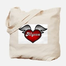 """""""Alyssa Heart with Wings"""" Tote Bag"""