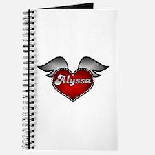 """Alyssa Heart with Wings"" Journal"