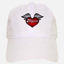 """""""Alyssa Heart with Wings"""" Baseball Baseball Cap"""