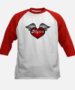 """Alyssa Heart with Wings"" Kids Baseball Jersey"