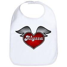 """""""Alyssa Heart with Wings"""" Bib"""