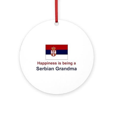 Happy Serbian Grandma Ornament