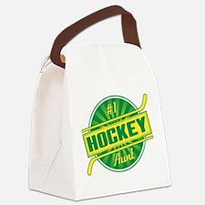 #1 Hockey Aunt Canvas Lunch Bag