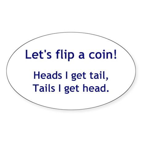 Coin Toss Oval Sticker