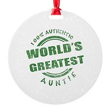 100% Authentic Auntie Ornament