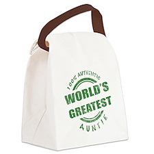 100% Authentic Auntie Canvas Lunch Bag