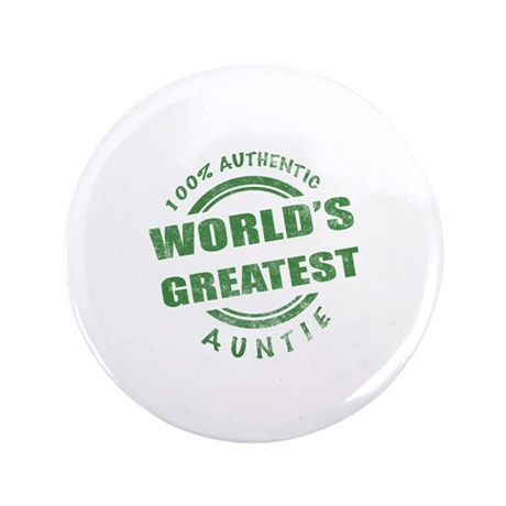 "100% Authentic Auntie 3.5"" Button (100 pack)"