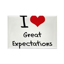 I love Great Expectations Rectangle Magnet