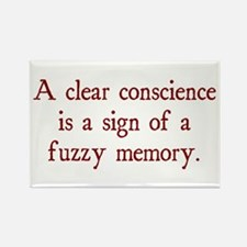 clear conscience fuzzy memory Rectangle Magnet