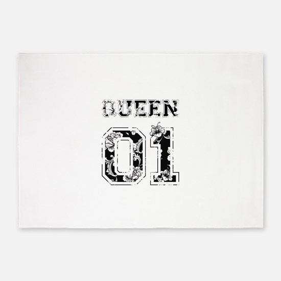 King and Queen shirts 5'x7'Area Rug