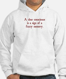 clear conscience fuzzy memory Hoodie