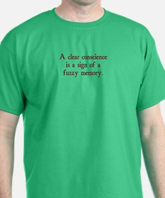 clear conscience fuzzy memory T-Shirt