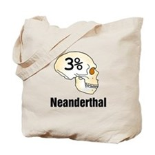 Three Percent Neanderthal Tote Bag
