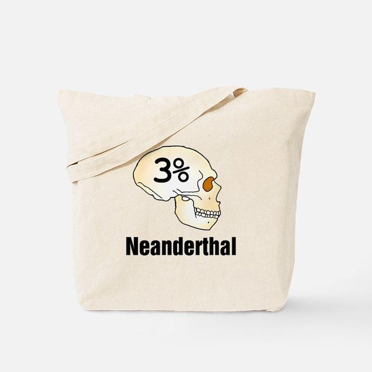 Three Percent Neanderthal Tote Bag