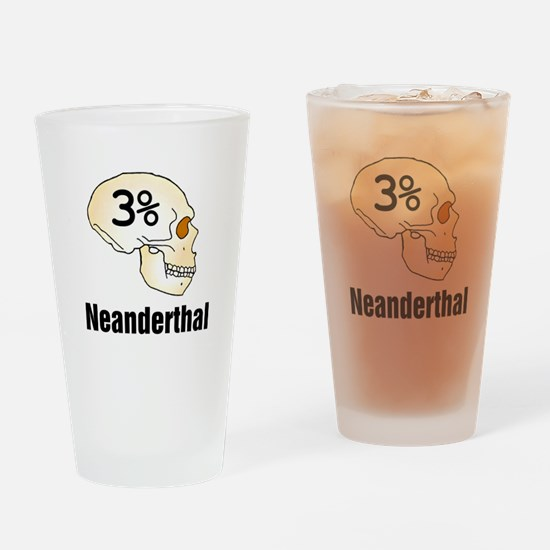 Three Percent Neanderthal Drinking Glass