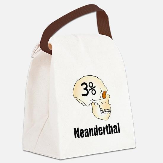 Three Percent Neanderthal Canvas Lunch Bag