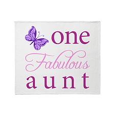 One Fabulous Aunt Throw Blanket