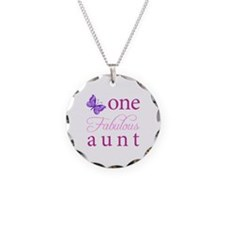 One Fabulous Aunt Necklace Circle Charm
