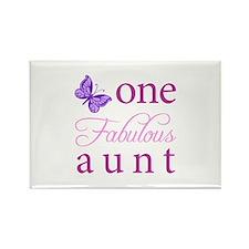 One Fabulous Aunt Rectangle Magnet