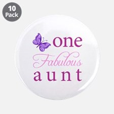"""One Fabulous Aunt 3.5"""" Button (10 pack)"""