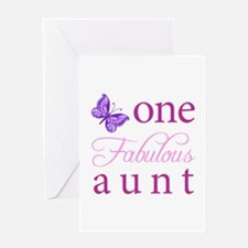 One Fabulous Aunt Greeting Card
