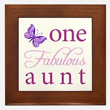 One Fabulous Aunt Framed Tile