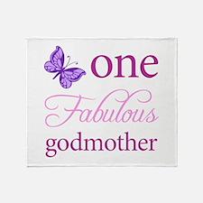 One Fabulous Godmother Throw Blanket
