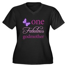 One Fabulous Godmother Women's Plus Size V-Neck Da