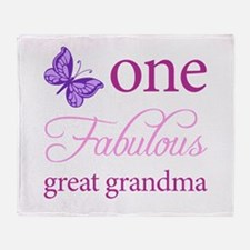 One Fabulous Great Grandma Throw Blanket