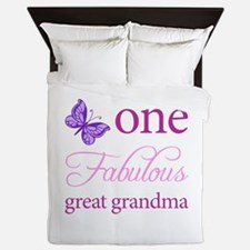 One Fabulous Great Grandma Queen Duvet